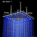 24 inches ceiling rainfall led shower