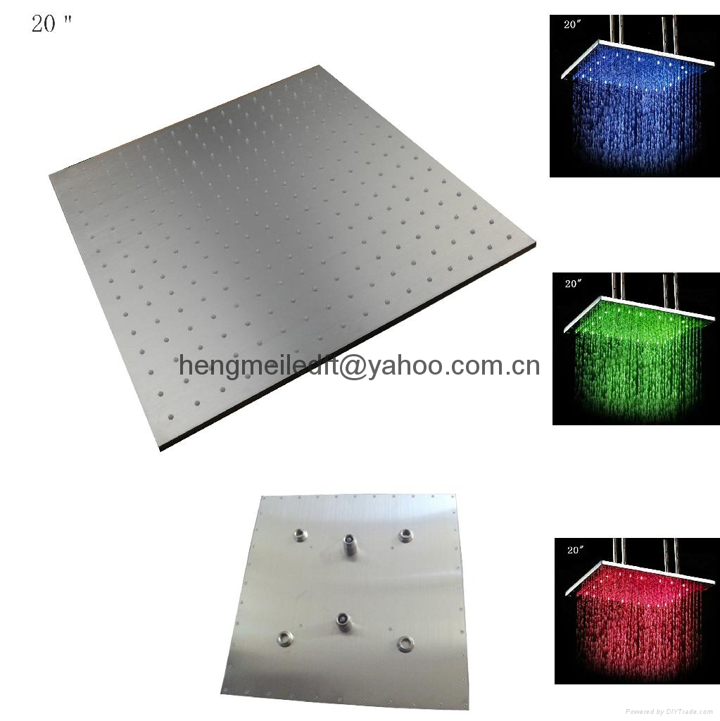 20 inches hot selling ceiling mounted hydro power led shower head 3