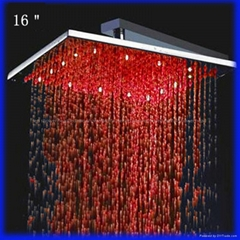 16 inches high quality lighted shower head