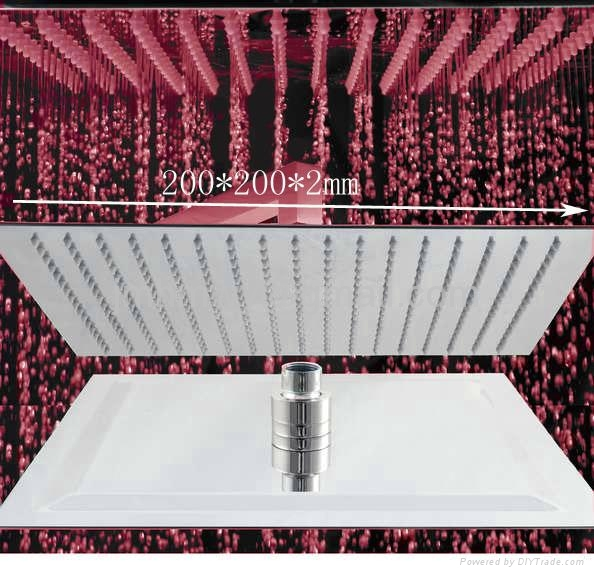 """ultrathin 2mm led shower head 8"""",10"""",12"""",square and round shower head 1"""
