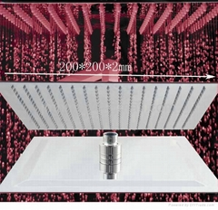 "ultrathin 2mm led shower head 8"",10"",12"",square and round shower head"