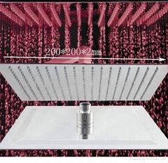 """ultrathin 2mm led shower head 8"""",10"""",12"""""""