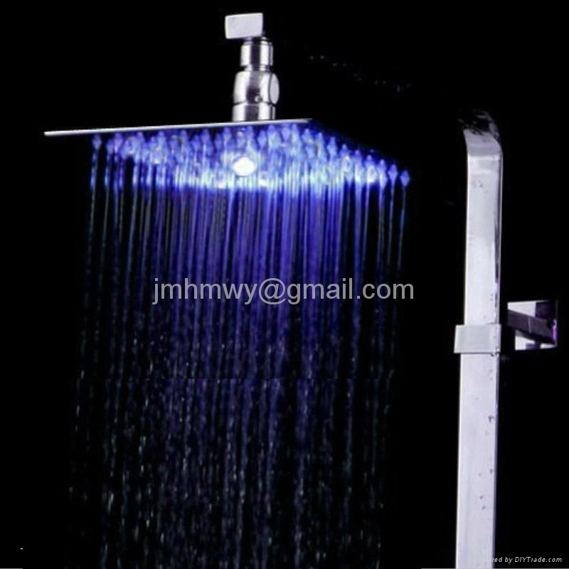 """ultrathin 2mm led shower head 8"""",10"""",12"""",square and round shower head 2"""