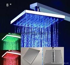 "brass shower led shower head 8"",10"",12"" square shower head"