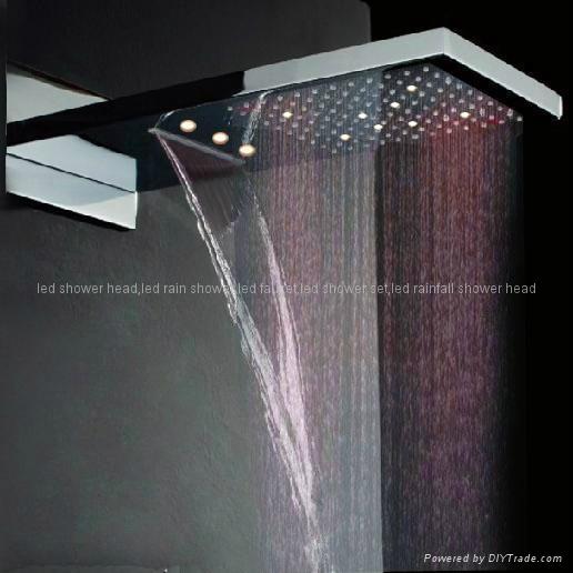 led rain shower,waterfall led shower 1