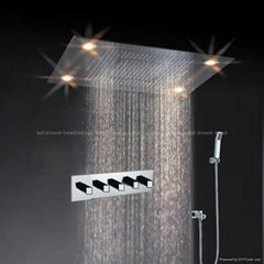 led rainfall shower sets