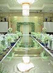 生产专供北京婚庆镜面地毯舞台地板