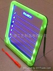 手写迷你 荧光板 绘画板写字板 发光留言板 蓝光广告牌 电子