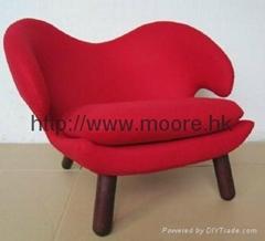 塘鹅椅;Finn Juhl Pelican chair