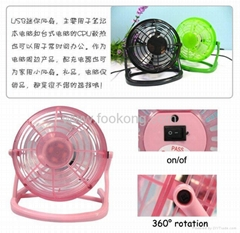 Portable 360℃ Rotatory USB Cooling Fan Cooler For Laptop Notebook