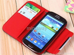 Wallet leather case for Galaxy S3 I9300