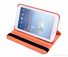 for galaxy tab P3200 leather case with 360 degree