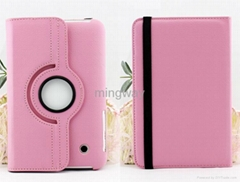 for galaxy tab P3100 leather case with 360 degree