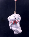 Christmas pendant of glass - the bear-jza19980004