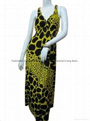 classic lady long dress