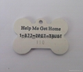custom dog tag, pet tag ID tag, bone shaped dog tag