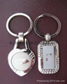 Metal name plate, metal key chain(key ring with logo