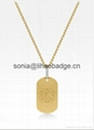 gold or silver plated necklace