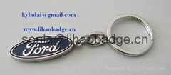 Ford key chain, metal key chain, key ring with logo, custom key chain