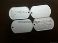 metal embossed dog tag, custom pet tag, Military dog tag