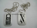 dog tag, tag necklace, pet necklace, metal dog tag, custom necklace