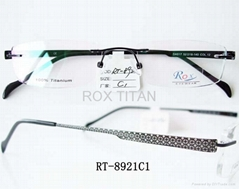 rimless titanium optical frames/eyewear