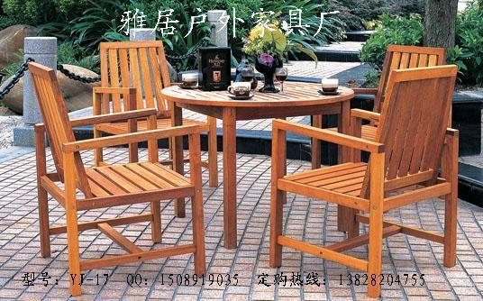 實木桌椅 2