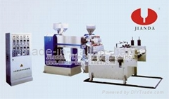 Two-layer co-extrusion casting winding film blowing machine