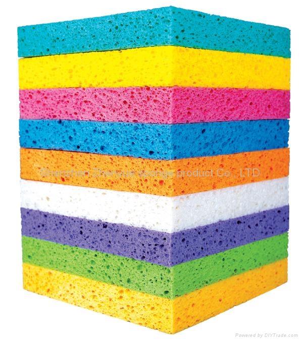 Wood Pulp Cotton Bath Sponge Clean Sponge L2