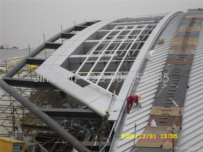 吊顶铝天花.镜面铝板,不锈钢天花板.条扣铝天花板.弧形铝扣板.