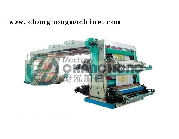 High Speed 4 Color Weave Cloth Flexographic Printing Machine(CH884) 2