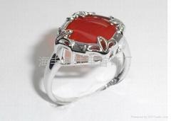 925银镶玛瑙戒指