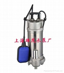 WQD型全不锈钢自带浮球式潜水泵