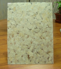 Decorative material made of resin