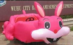 充气玩具车充气电瓶车