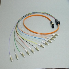 MPO-LC fiber optic patch cord