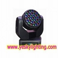 37 x 3W RGB led moving head beam YK-119