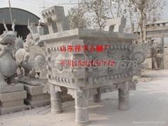 石雕公園石雕像香爐