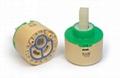 Faucet ceramic mixer cartridge gear type