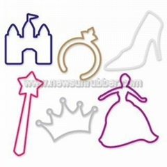 Princess silly bandz