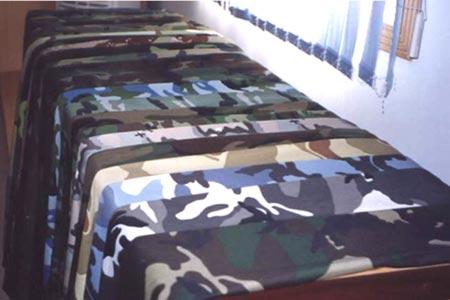Woodland Green Camouflage Fabric 3