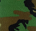 Woodland Green Camouflage Fabric