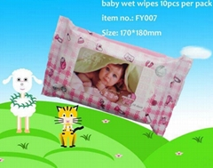 Baby skin care wet wipe