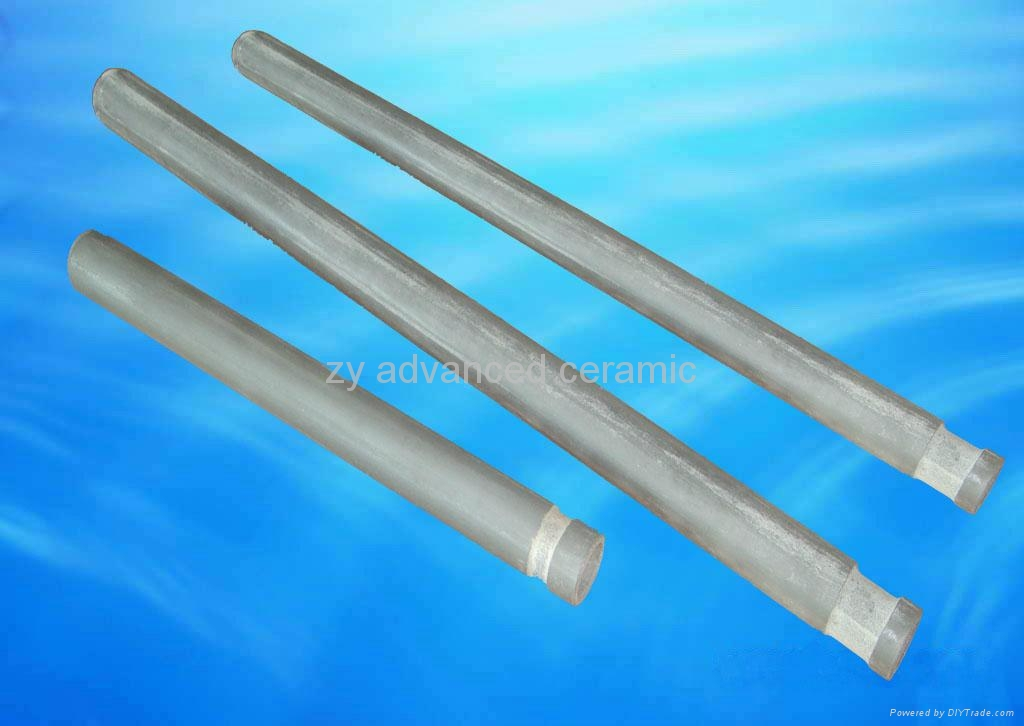 Si3N4 Bond SiC Thermocouple Ceramic Tubes Using In Moten Metals 2
