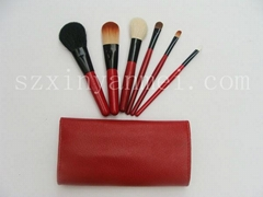 lastest red makeup brush set