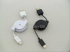 Hot selling USB Stretch Data Cable for iPhone 5/5S/5C for iPad 4 for Mini iPad