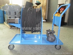 Electric motor hose reels