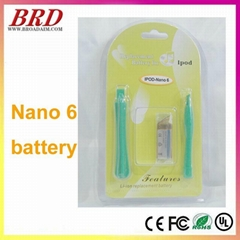 New for ipod nano 6 battery with free tools