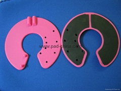 breast electrode, silicone breast electrode