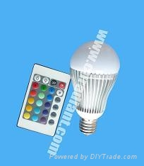6w led remote control light